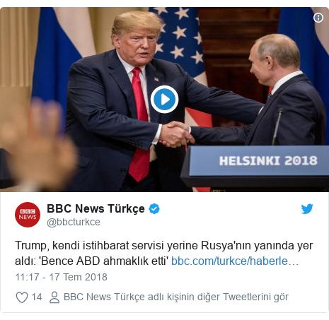 @bbcturkce tarafından yapılan Twitter paylaşımı: Trump, kendi istihbarat servisi yerine Rusya'nın yanında yer aldı  'Bence ABD ahmaklık etti'