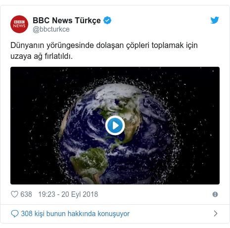 @bbcturkce tarafından yapılan Twitter paylaşımı: Dünyanın yörüngesinde dolaşan çöpleri toplamak için uzaya ağ fırlatıldı.