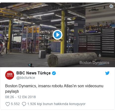 @bbcturkce tarafından yapılan Twitter paylaşımı: Boston Dynamics, insansı robotu Atlas'ın son videosunu paylaştı