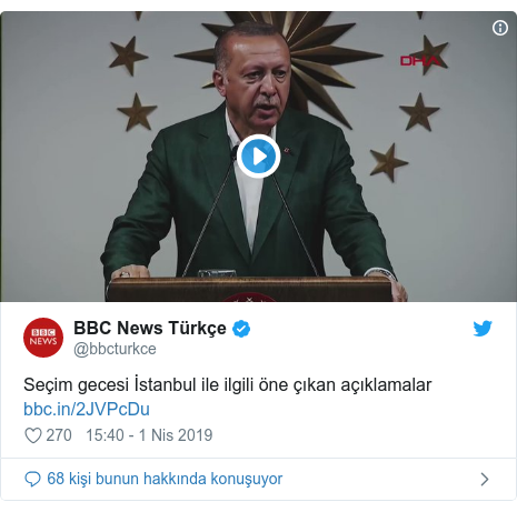 @bbcturkce tarafından yapılan Twitter paylaşımı: Seçim gecesi İstanbul ile ilgili öne çıkan açıklamalar