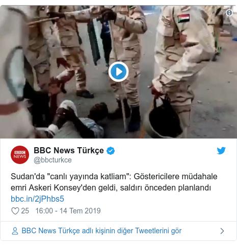 """@bbcturkce tarafından yapılan Twitter paylaşımı: Sudan'da """"canlı yayında katliam""""  Göstericilere müdahale emri Askeri Konsey'den geldi, saldırı önceden planlandı"""