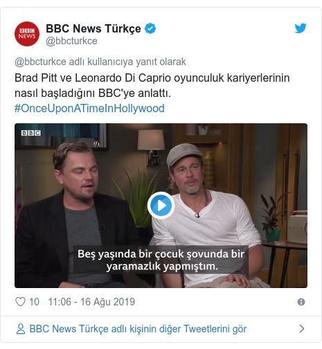 @bbcturkce tarafından yapılan Twitter paylaşımı: Brad Pitt ve Leonardo Di Caprio oyunculuk kariyerlerinin nasıl başladığını BBC'ye anlattı. #OnceUponATimeInHollywood