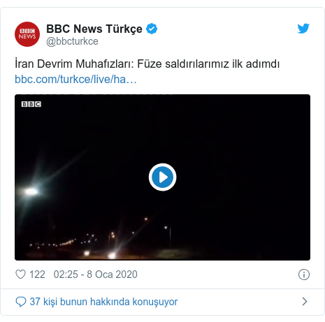 @bbcturkce tarafından yapılan Twitter paylaşımı: İran Devrim Muhafızları  Füze saldırılarımız ilk adımdı