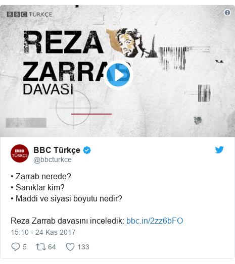 @bbcturkce tarafından yapılan Twitter paylaşımı: • Zarrab nerede?• Sanıklar kim?• Maddi ve siyasi boyutu nedir? Reza Zarrab davasını inceledik
