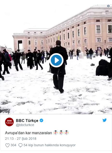 @bbcturkce tarafından yapılan Twitter paylaşımı: Avrupa'dan kar manzaraları ☃️☃️☃️
