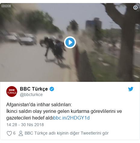 @bbcturkce tarafından yapılan Twitter paylaşımı: Afganistan'da intihar saldırıları İkinci saldırı olay yerine gelen kurtarma görevlilerini ve gazetecileri hedef aldı