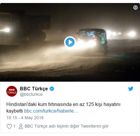 @bbcturkce tarafından yapılan Twitter paylaşımı: Hindistan'daki kum fırtınasında en az 125 kişi hayatını kaybetti