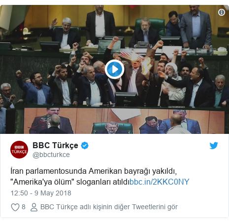 """@bbcturkce tarafından yapılan Twitter paylaşımı: İran parlamentosunda Amerikan bayrağı yakıldı, """"Amerika'ya ölüm"""" sloganları atıldı"""