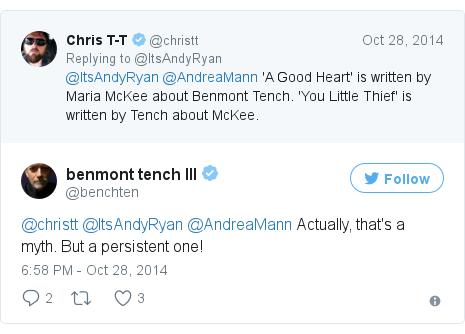 Twitter post by @benchten