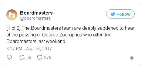 Twitter post by @boardmasters