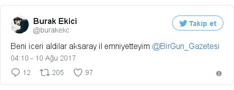 @burakekc tarafından yapılan Twitter paylaşımı
