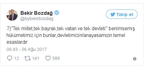 @bybekirbozdag tarafından yapılan Twitter paylaşımı
