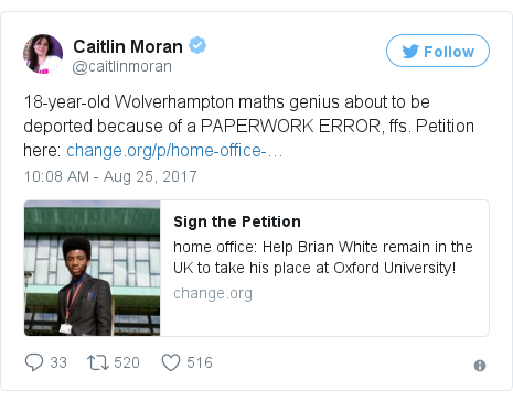 Twitter post by @caitlinmoran