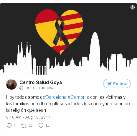 Twitter post by @centrosaludgoya