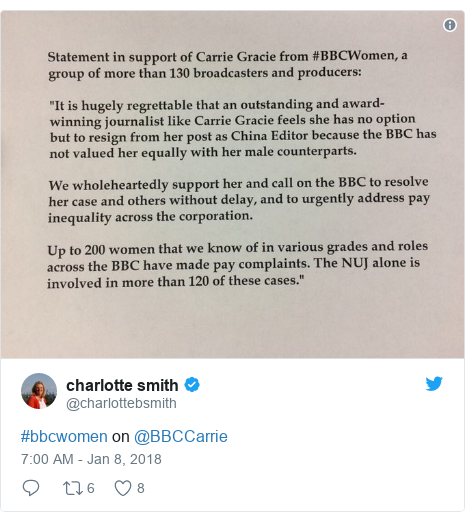 Twitter post by @charlottebsmith: #bbcwomen on @BBCCarrie