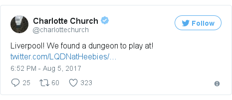 Twitter post by @charlottechurch