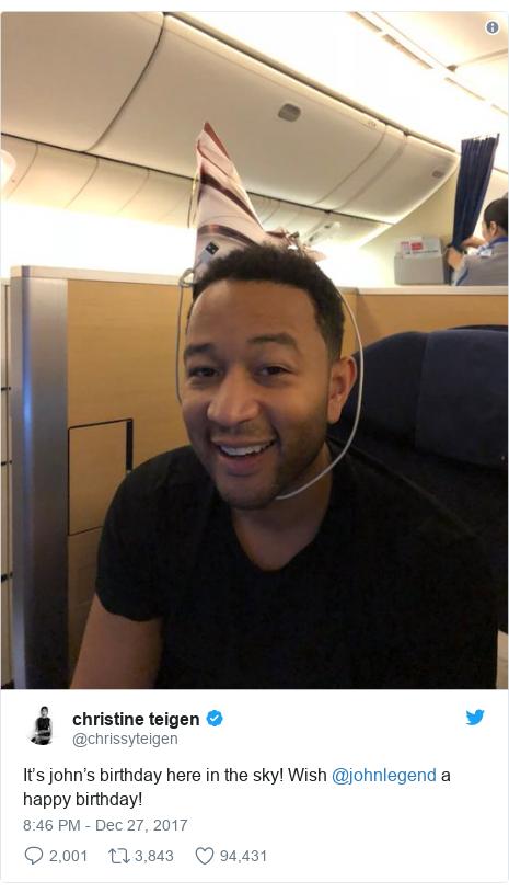 John Legend and Chrissy Teigen make it to Japan - eventually