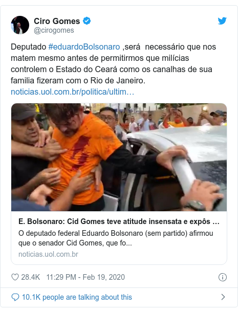 Image result for IN BRAZIL – SENATOR CID GOMES SHOT IN STAND-OFF WITH POLICE