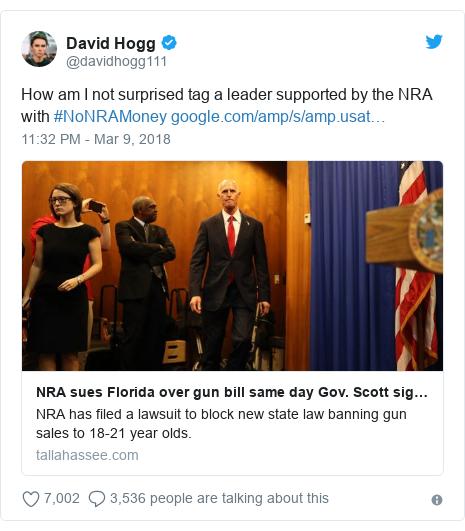 Florida Shooting: NRA Sues As Florida Enacts Gun-control