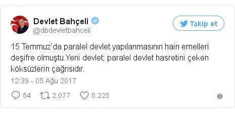 @dbdevletbahceli tarafından yapılan Twitter paylaşımı