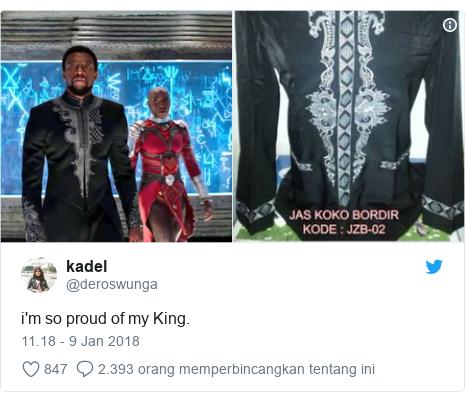 Twitter pesan oleh @deroswunga: i'm so proud of my King.