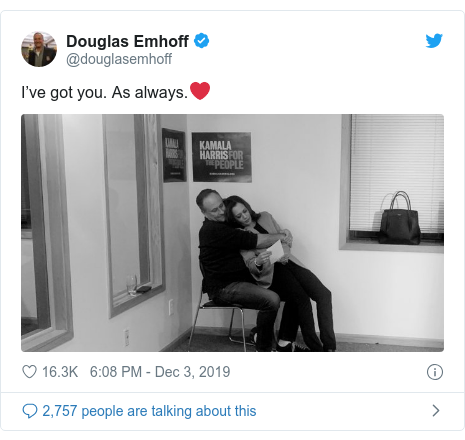 Twitter post by @douglasemhoff: I've got you. As always.❤️