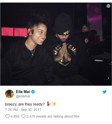 Twitter post by @ellamai: breezy, are they ready? 💃🏽✨