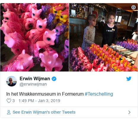 Twitter post by @erwinwijman: In het Wrakkenmuseum in Formerum #Terschelling