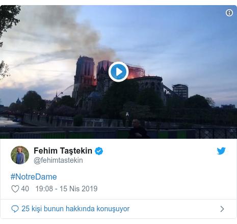 @fehimtastekin tarafından yapılan Twitter paylaşımı: #NotreDame