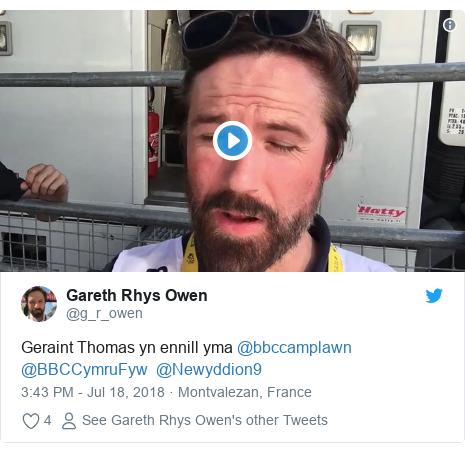 Neges Twitter gan @g_r_owen: Geraint Thomas yn ennill yma @bbccamplawn @BBCCymruFyw  @Newyddion9