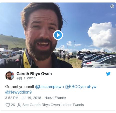Neges Twitter gan @g_r_owen: Geraint yn ennill @bbccamplawn @BBCCymruFyw @Newyddion9