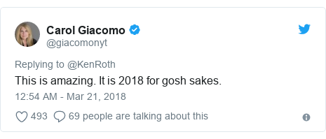 Twitter post by @giacomonyt: This is amazing. It is 2018 for gosh sakes.