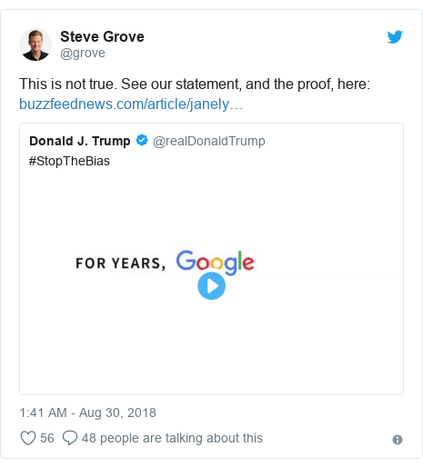 Twitter post by @grove: This is not true. See our statement, and the proof, here