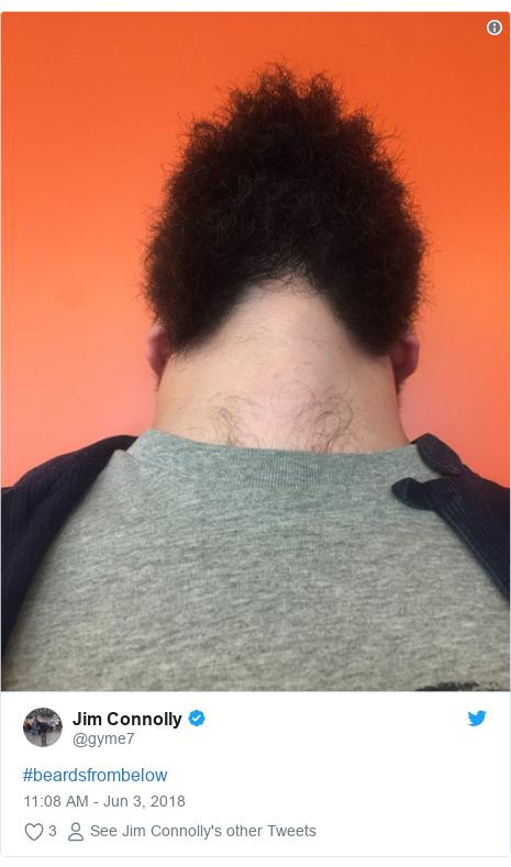 Twitter post by @gyme7: #beardsfrombelow