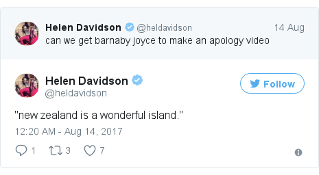 Twitter post by @heldavidson