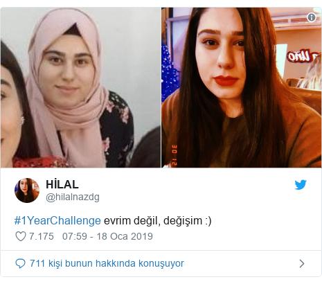 @hilalnazdg tarafından yapılan Twitter paylaşımı: #1YearChallenge evrim değil, değişim  )