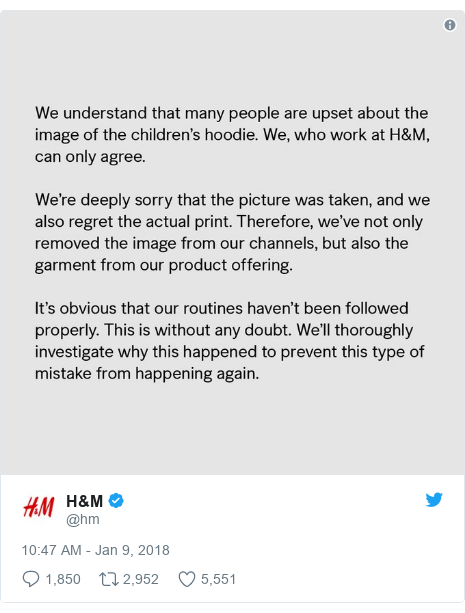 Twitter post by @hm: