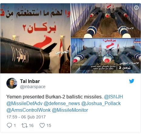 @inbarspace tarafından yapılan Twitter paylaşımı: Yemen presented Burkan-2 ballistic missiles. @ISNJH @MissileDefAdv @defense_news @Joshua_Pollack @ArmsControlWonk  @MissileMonitor