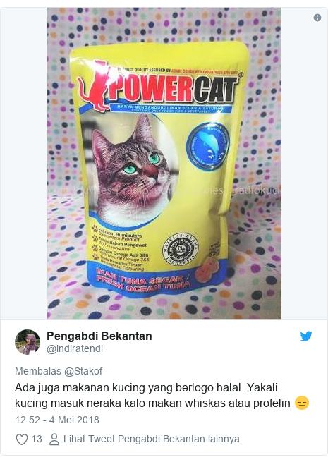 Ketika sertifikat halal diberikan untuk kulkas dan makanan kucing