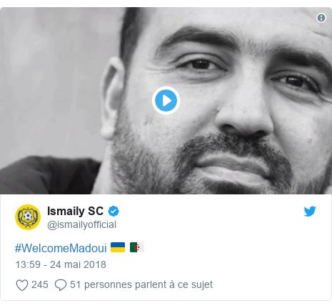 Twitter publication par @ismailyofficial: #WelcomeMadoui 🇺🇦 🇩🇿