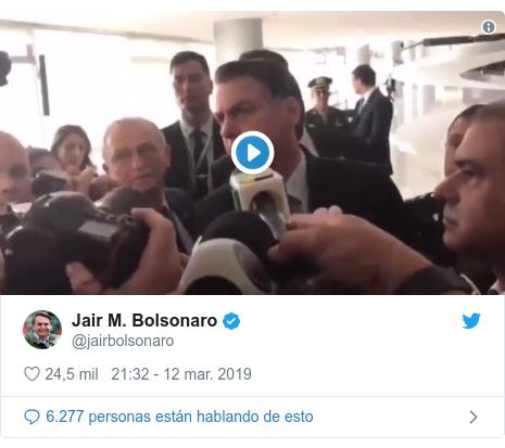 Publicación de Twitter por @jairbolsonaro: