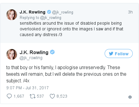 Twitter post by @jk_rowling