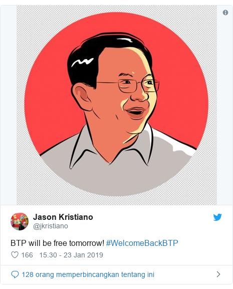 Twitter pesan oleh @jkristiano: BTP will be free tomorrow! #WelcomeBackBTP