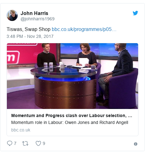 Twitter post by @johnharris1969: Tiswas, Swap Shop
