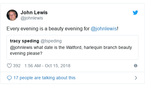 Twitter post by @johnlewis: Every evening is a beauty evening for @johnlewis!