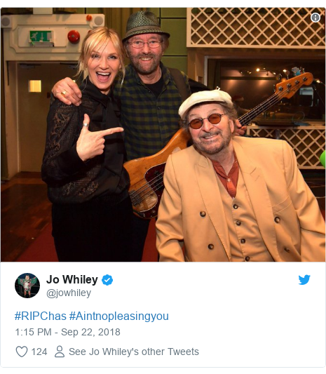 Twitter post by @jowhiley: #RIPChas #Aintnopleasingyou