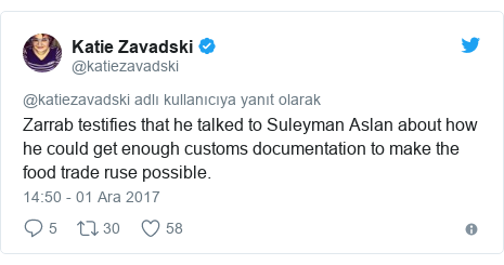 @KlasfeldReports tarafından yapılan Twitter paylaşımı: The son was working for Zarrab while his dad was minister of the interior, Zarrab says. Zarrab said he met in person. Called over the telephone and messaged over WhatsApp
