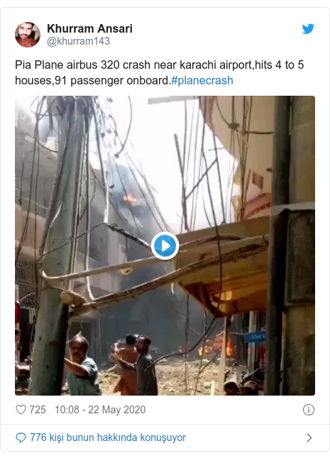@khurram143 tarafından yapılan Twitter paylaşımı: Pia Plane airbus 320 crash near karachi airport,hits 4 to 5 houses,91 passenger onboard.#planecrash