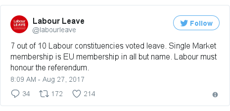 Twitter post by @labourleave