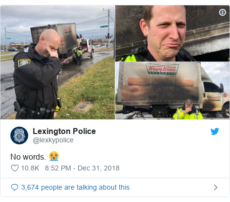 Twitter post by @lexkypolice: No words. 😭